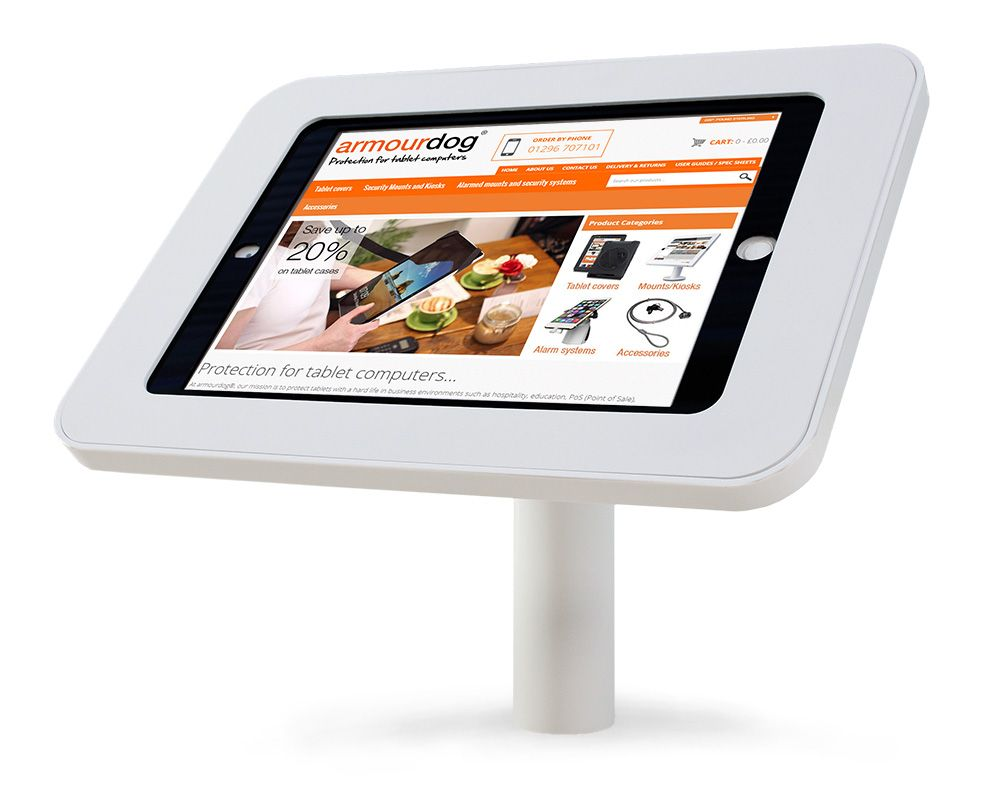 Armourdog Locpad Anti Theft Tablet Kiosk With 45 Desk Wall
